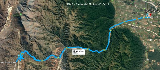 Dia 6 - Piedra del Molino - El Carril