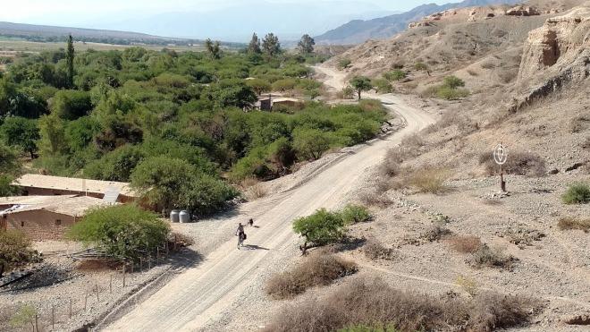 Vista da estrada das ruínas de El Churcal